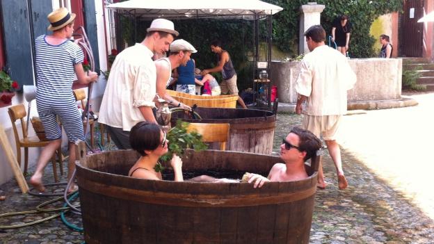 Badeanstalt aus dem Mittelalter im Innenhof