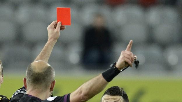 Der Schiedsrichter brach die Partie im Stadion Gersag nach Streitereien ab.