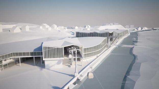 Visualisierung der Talstation in Grindelwald Grund.