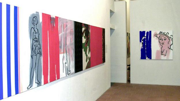 Bilder in einer Ausstellung im Kunstmuseum Thurgau.