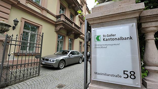 Die Filiale der St. Galler Kantonalbank in München.