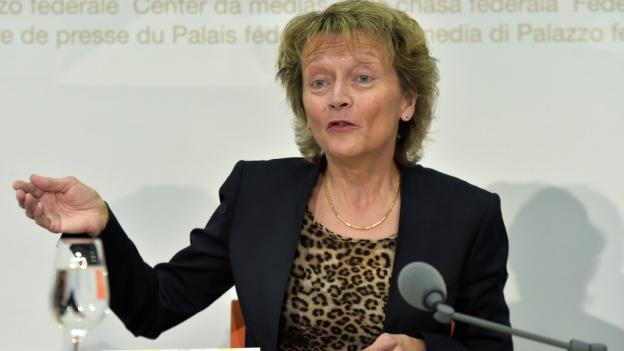 Nach acht Jahren im Amt gibt Eveline Widmer-Schlumpf ihren Rücktritt bekannt.