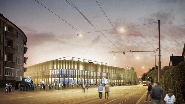 Das neue Zürcher Fussball-Stadion ist fürs Parlament noch zu teuer.