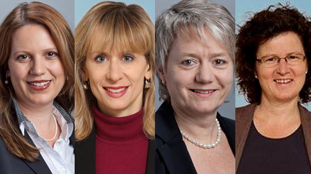 Chantal Galladé, Priska Seiler Graf, Jacqueline Fehr und Sabine Sieber Hirschi