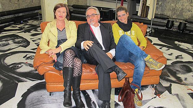 Katharina Kilchenmann mit Marion Gasser und Thomas Cerny.