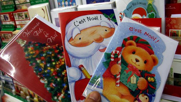 Weihnachtskarten sind beliebt.