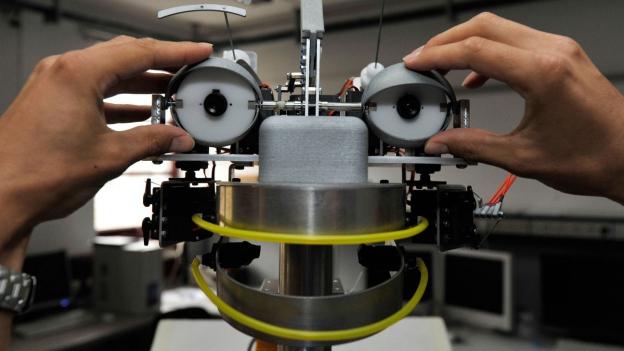 Roboter mit Gesicht.