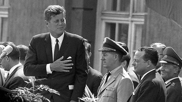 John F. Kennedy wieder unter Deutschen: in Westberlin im Juni 1963.