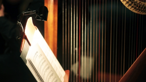 Symbolbild einer Harfe