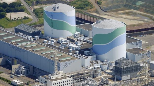 Luftaufnahme der Sendai-Anlage im Süden Japans.