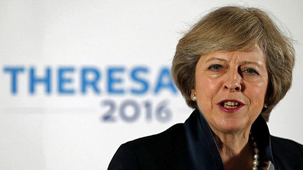 Theresa May. Portraitbild.