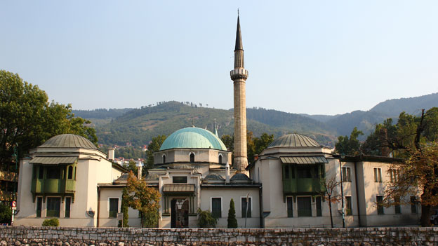 Careva Džamija, die älteste Moschee in Sarajevo.