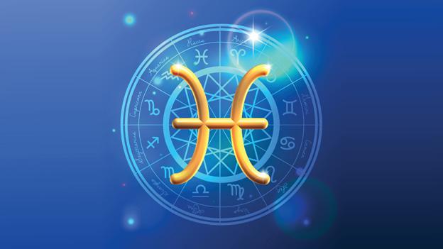 Grafik mit dem Symbol für das Sternzeichen Fische.