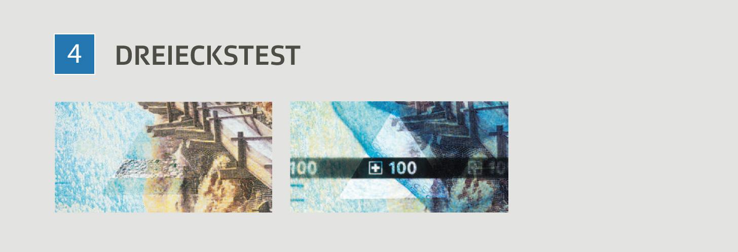 Die Sicherheitsmerkmale der neuen 100er-Note