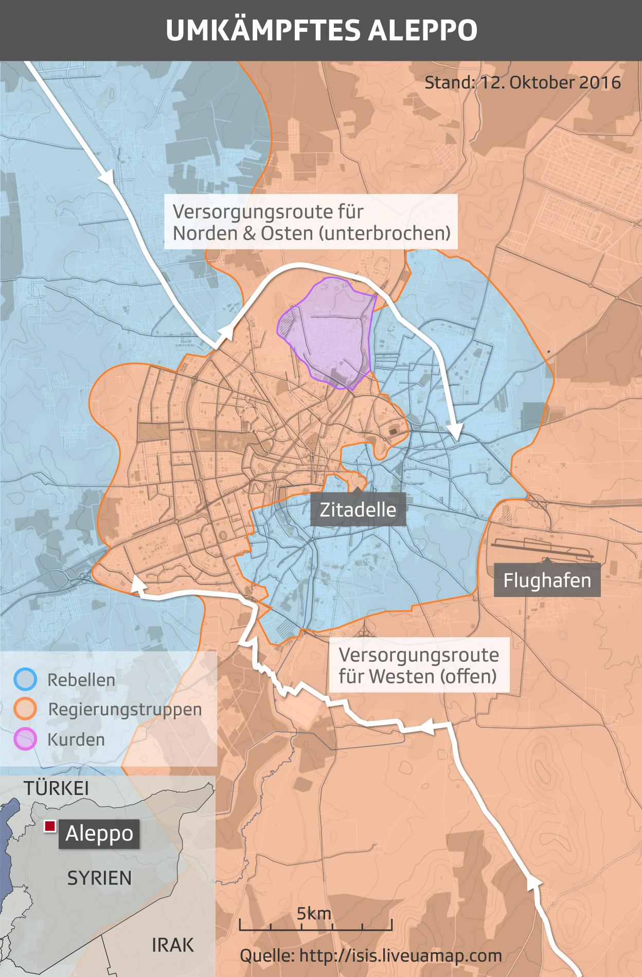 Umkämpftes Aleppo