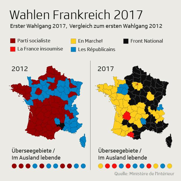 Karte Wahlen Vergleich