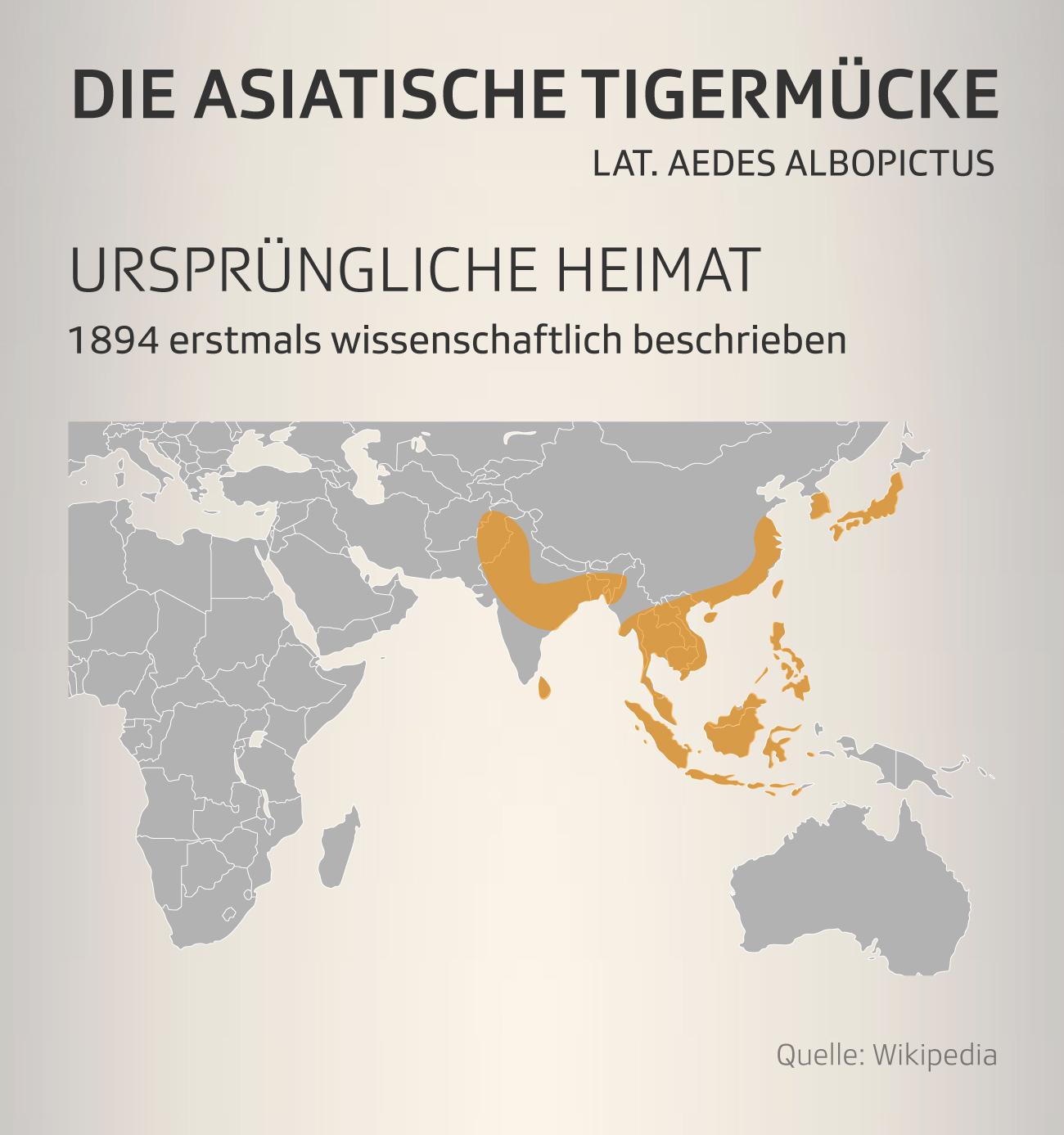 Die ursprüngliche Heimat der Tigermücke