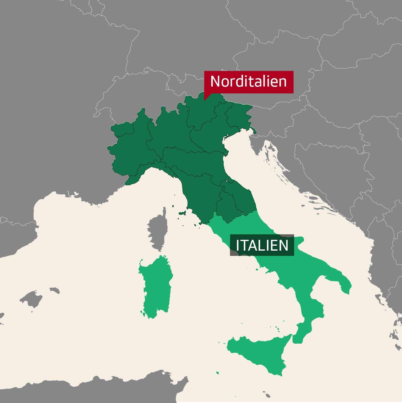 Separatisten Norditalien