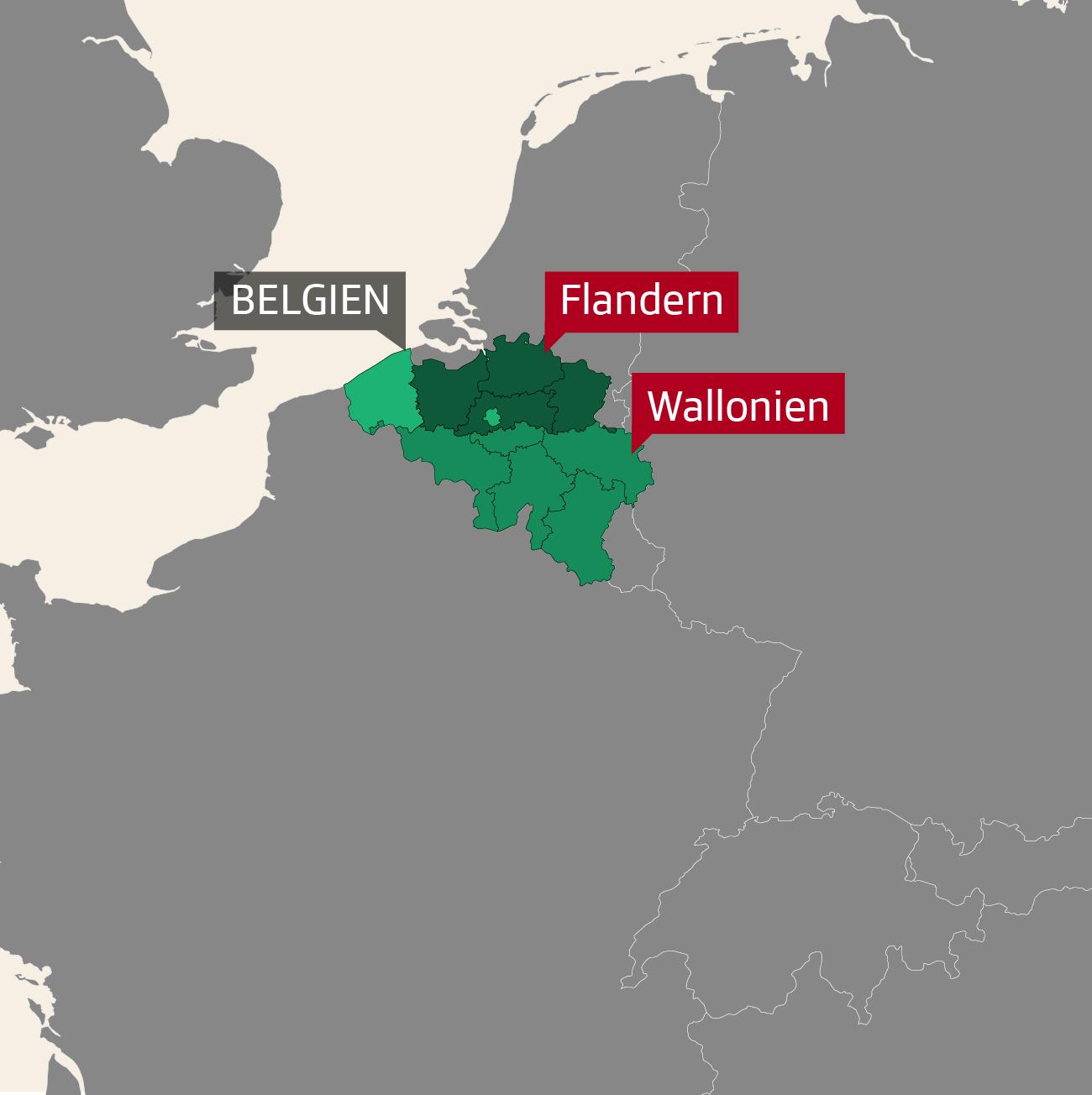Separatisten Wallonien Flandern