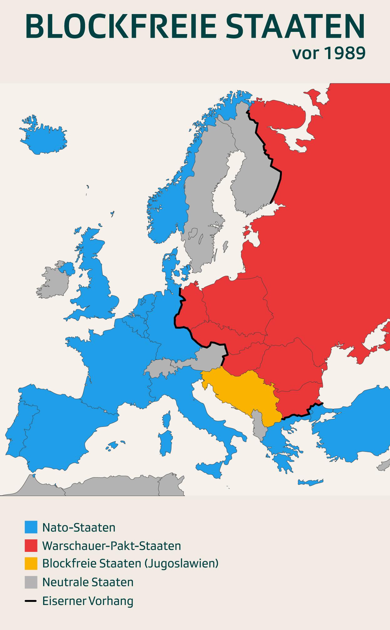 Karte Blockfreie Staaten