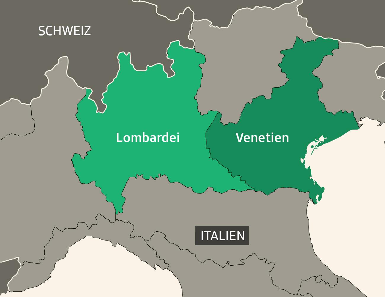Karte Norditalien