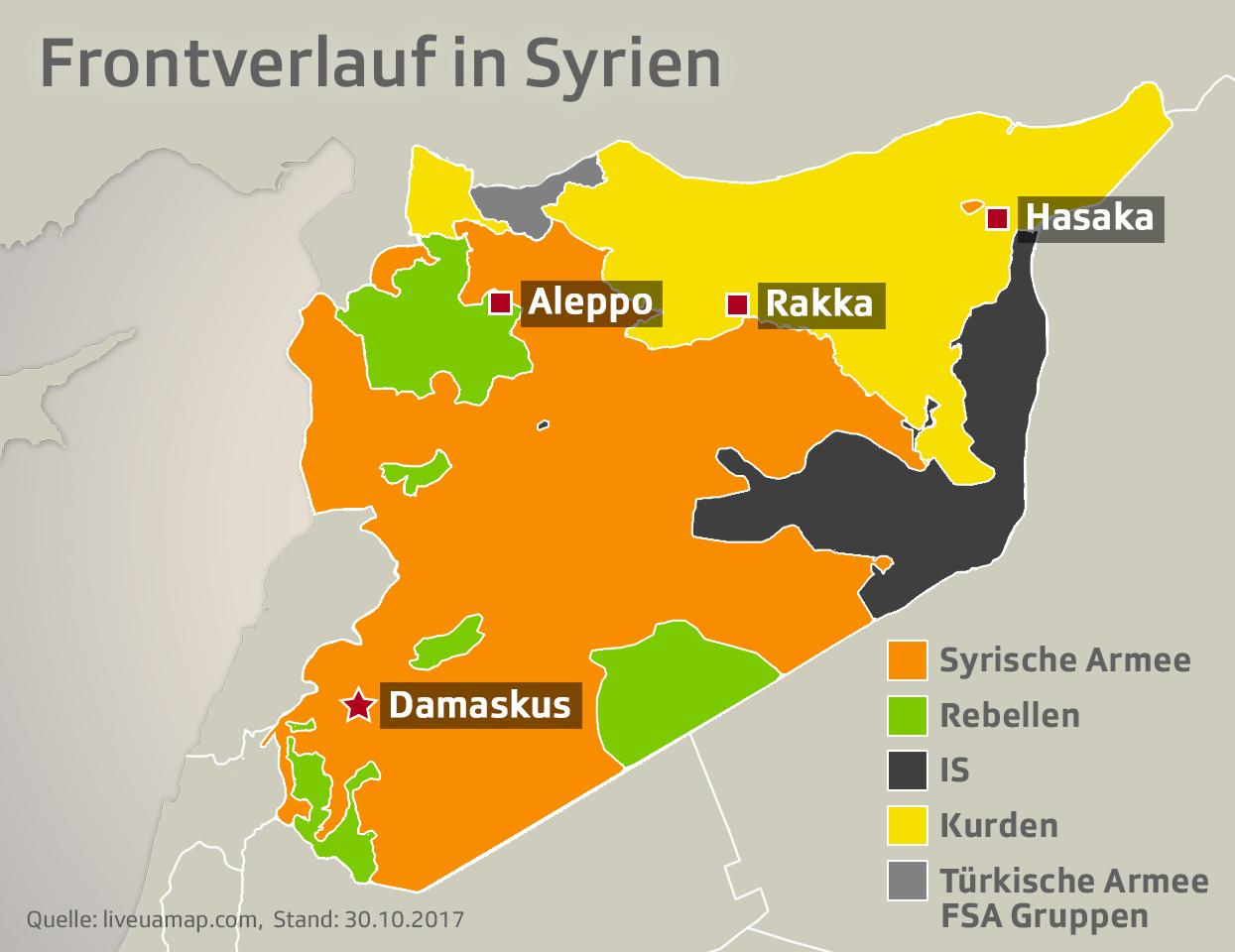 Zerstückeltes Syrien