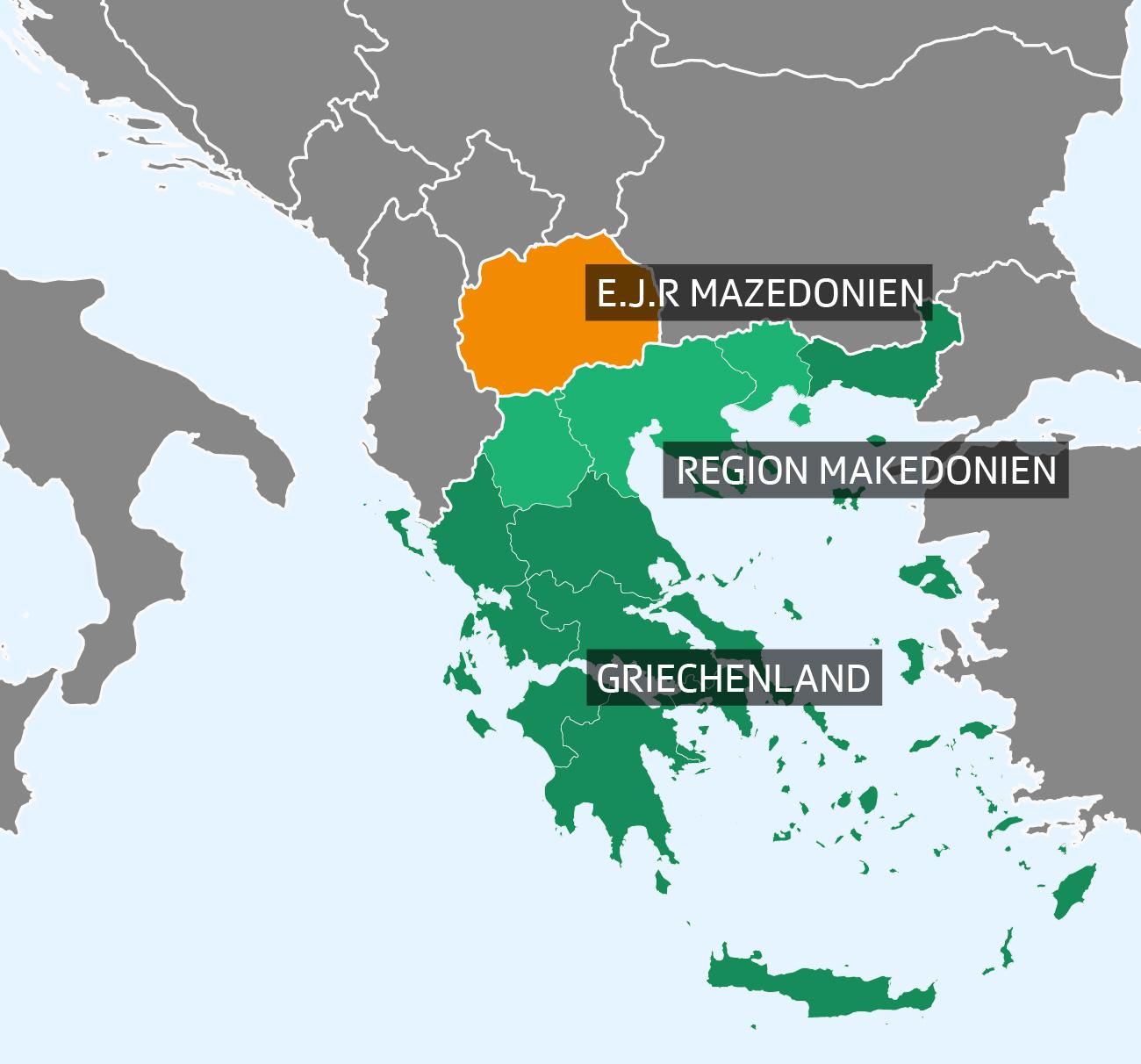 Mazedonien: Um diese Gebiete geht es