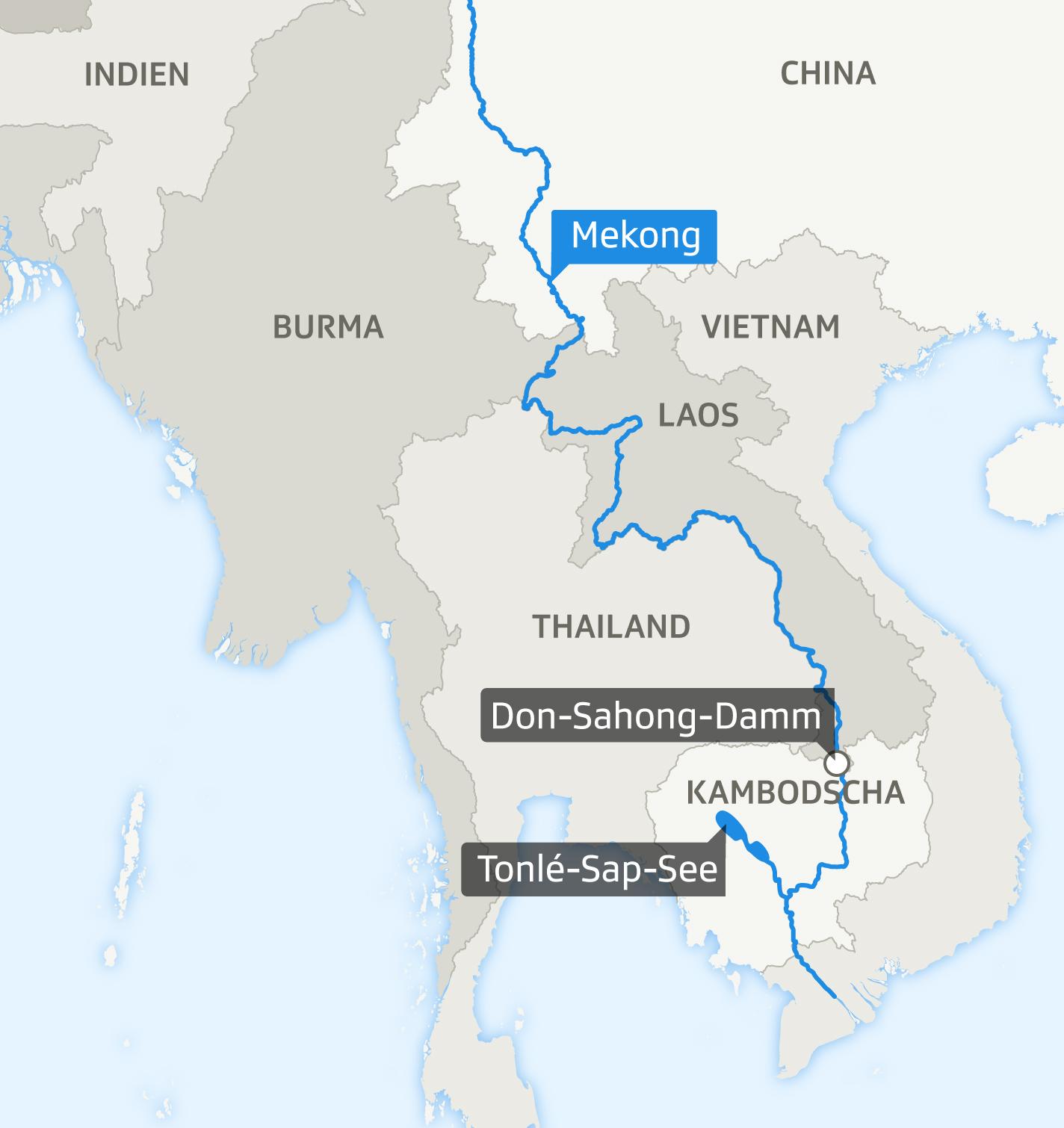 Karte Mekong