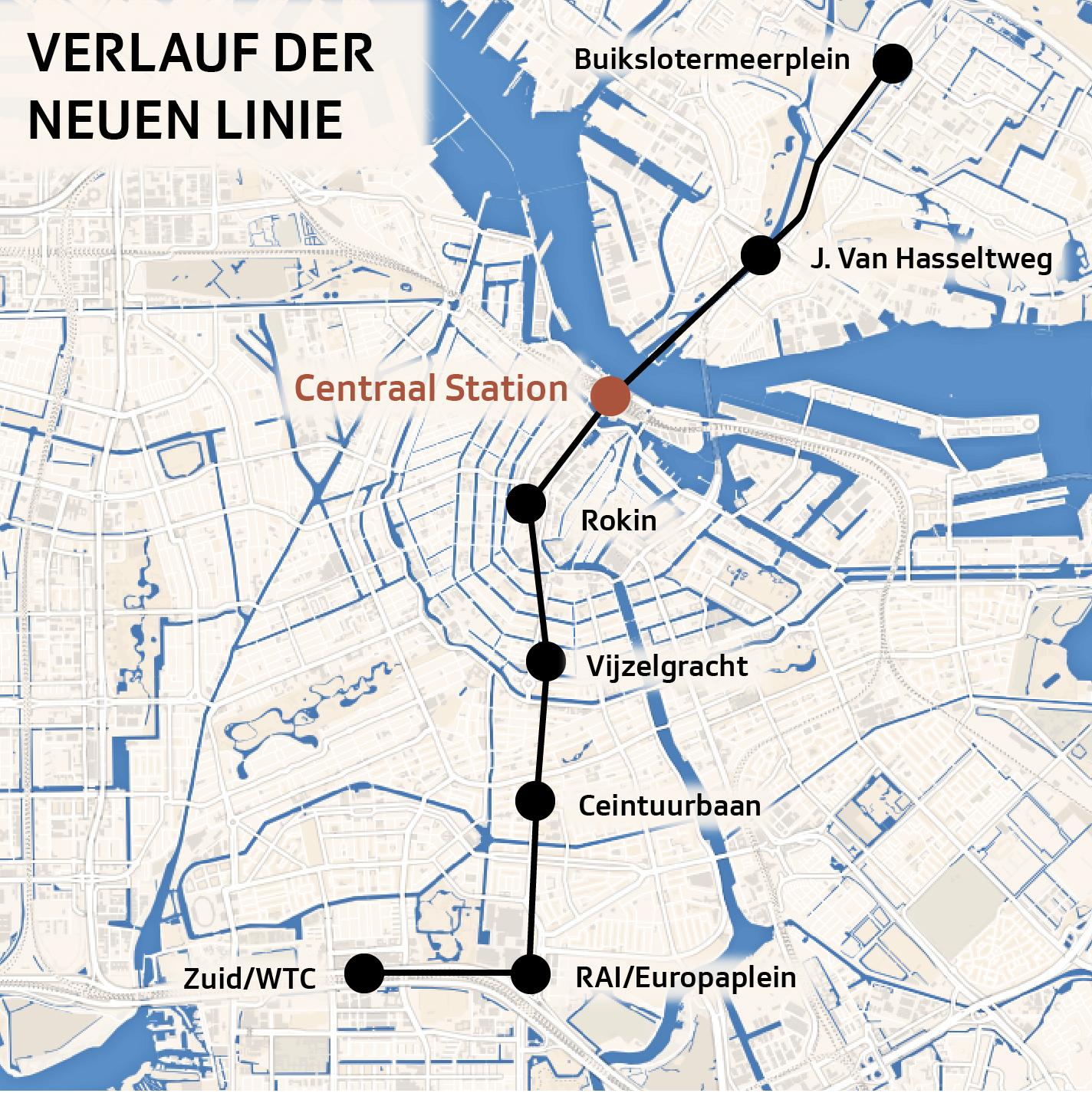 Grafik Karte Amsterdam