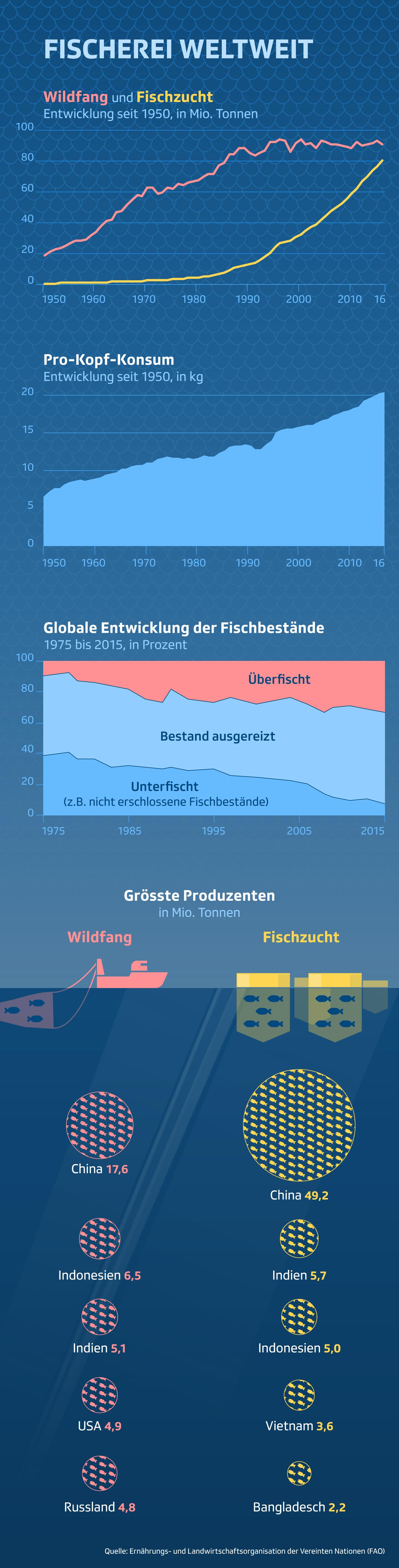 Weltweite Fischproduktion