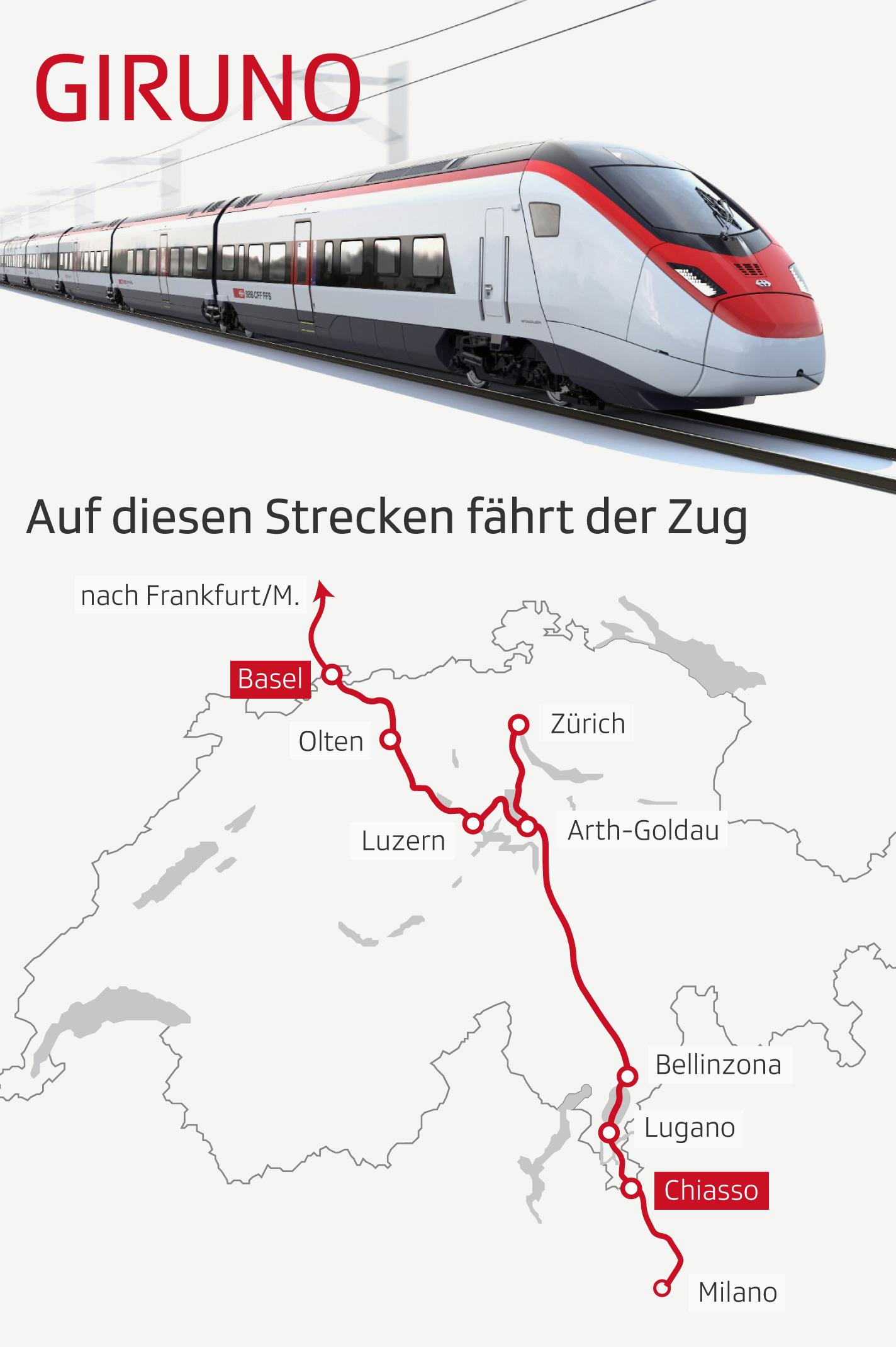 Infografik: Auf dieser Strecke fährt der Giruno