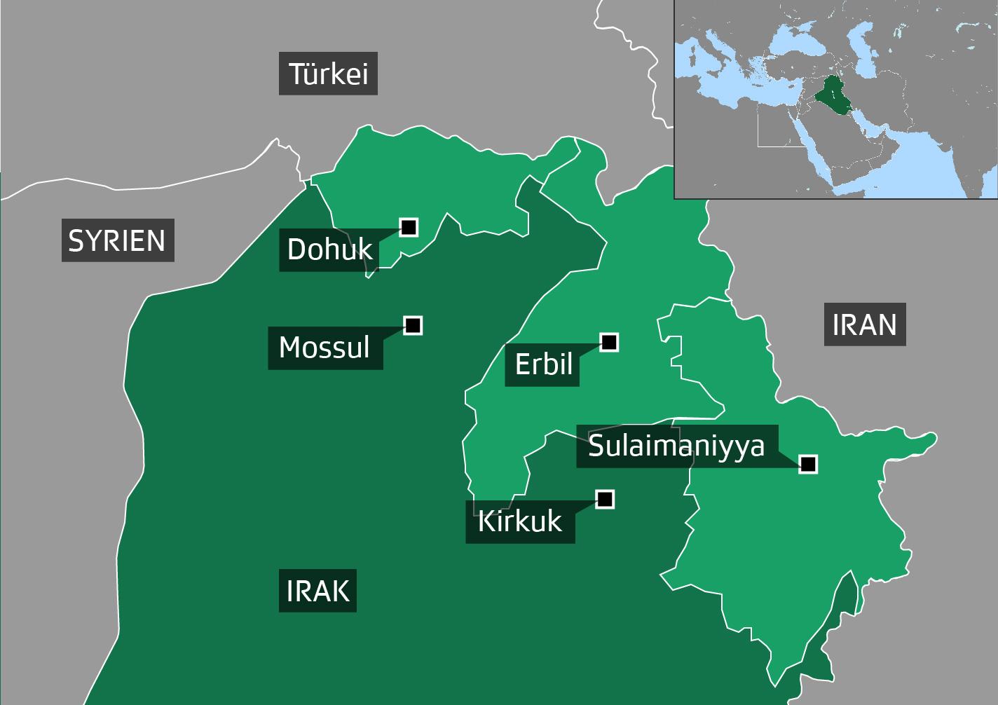 Grafik Autonome Region Kurdistan im Irak