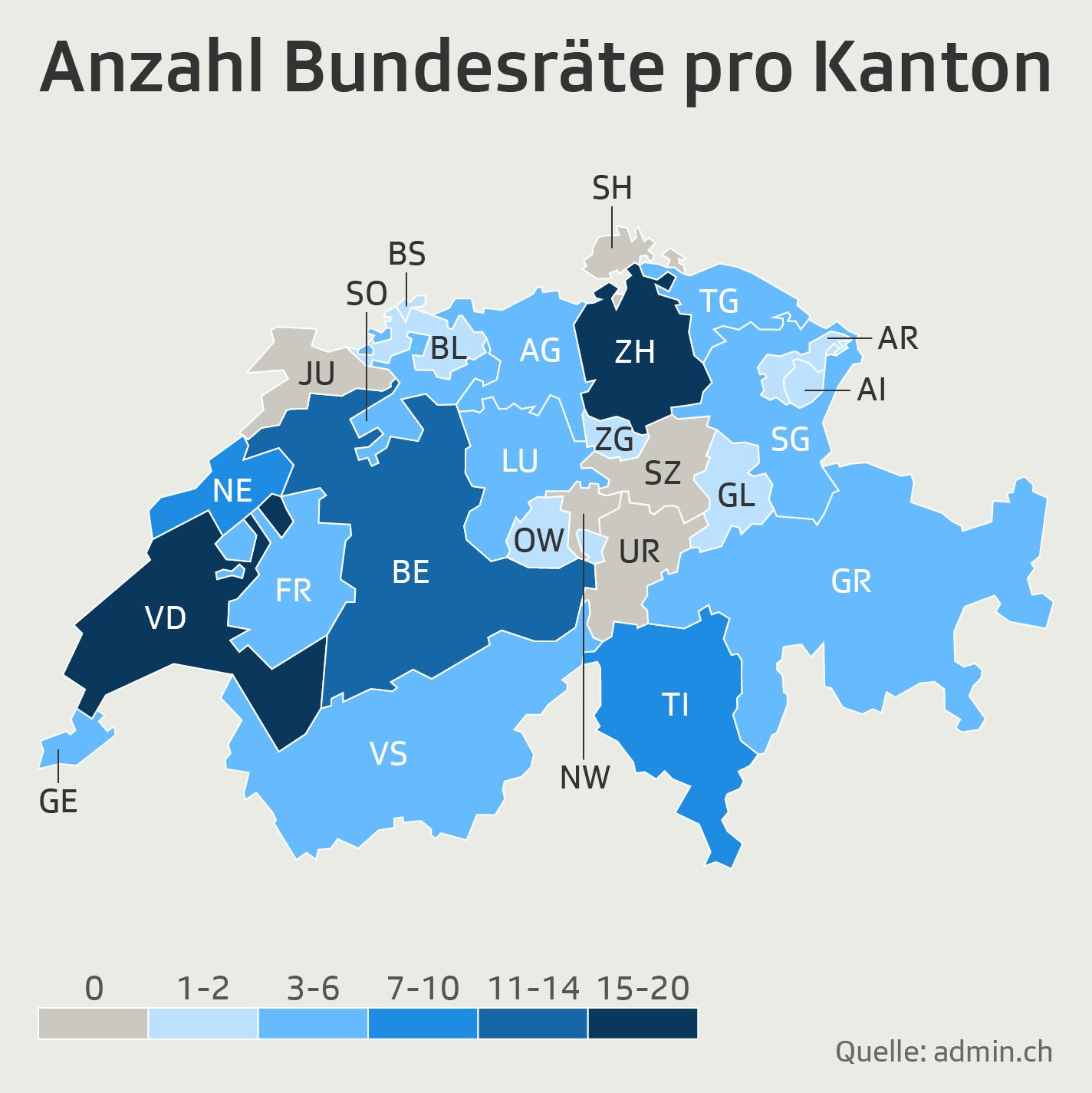 Infografik_Anzahl Bundesräte pro Kanton