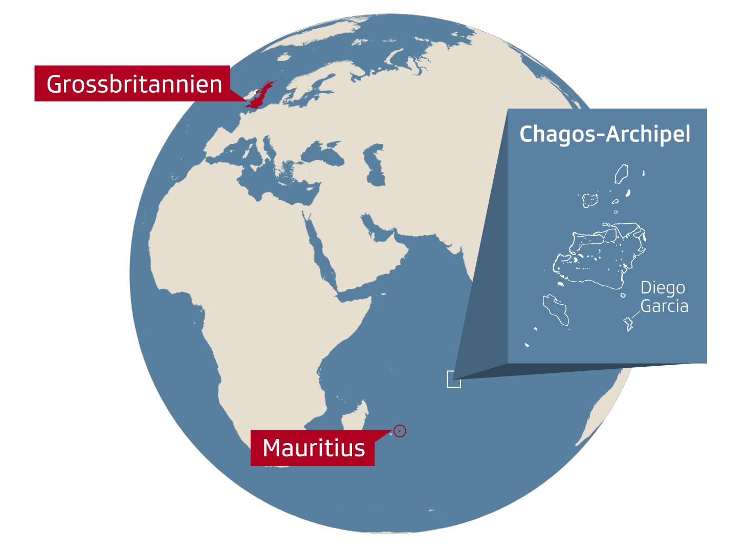 Karte Chagos-Archipel
