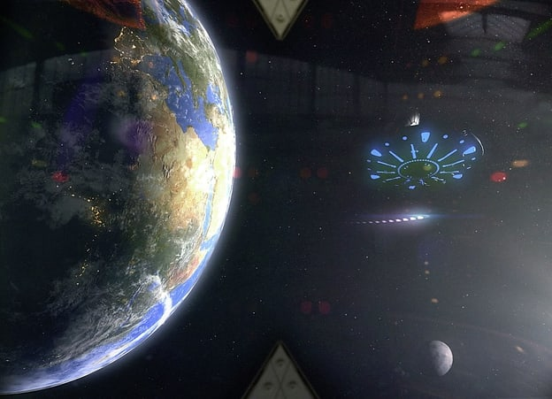 Antimaterie-Feuerwerk