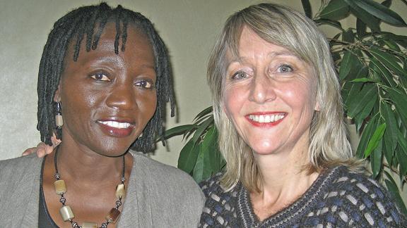 Begegnung mit Auma Obama aus Kenia
