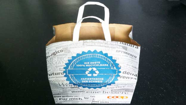 Coop-Papiertasche: Doch nicht ins Altpapier!