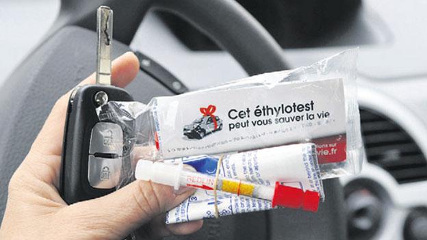 Alkoholtester in Frankreich: Obligatorisch - aber ohne Busse