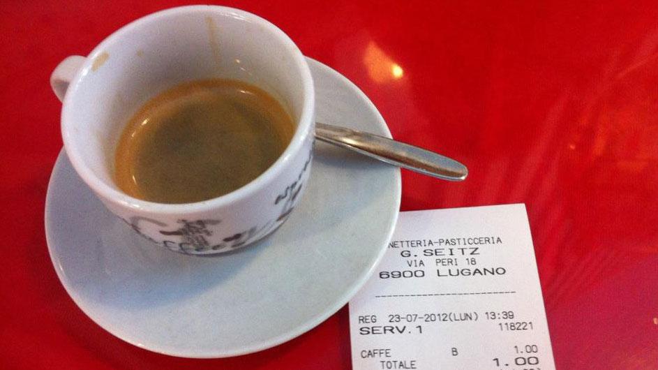 Es geht auch in der Deutschschweiz: Espresso für 1.90