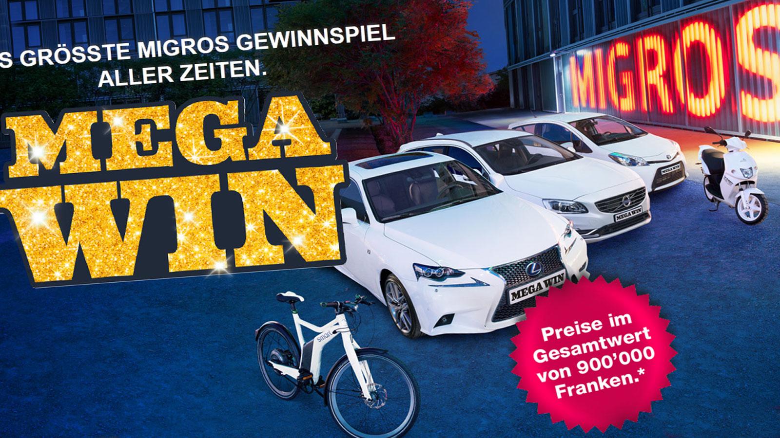 «Mega Win»: Migros-Gewinnspiel am Rande der Legalität