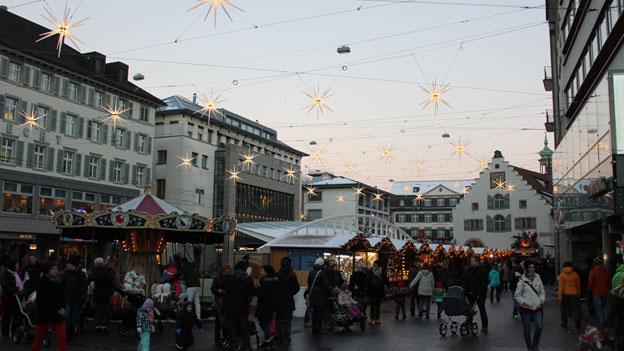 Weihnachtsmarkt St. Gallen: Klein, aber vielseitig