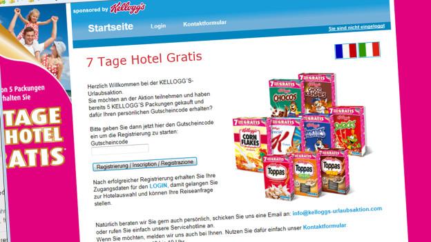 Audio «Kellogg's-Werbeaktion: Auch «gratis» kostet» abspielen