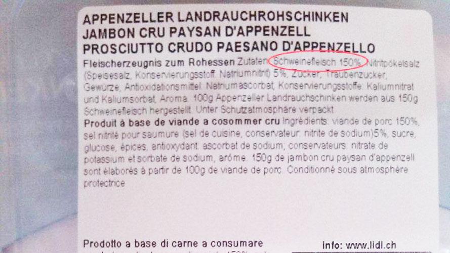 Lidl überrascht mit «150 Prozent Schweinefleisch»