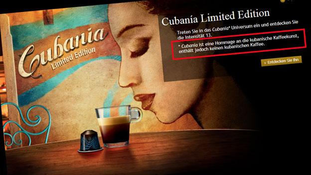 Cubanía: Nespresso-Kapseln ohne kubanischen Kaffee