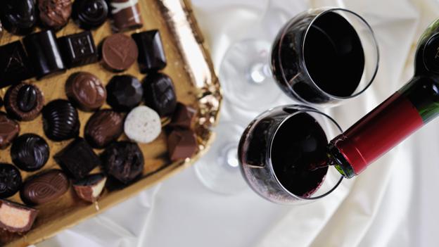 Schokolade und Wein – Genuss pur