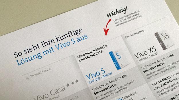 Swisscom: Vertragsänderung im Mantel eines Werbebriefes