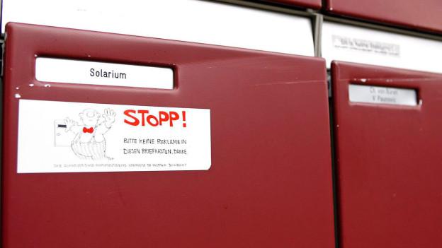 Stopp Werbung Post Will Kleber Loswerden Sendungen Srf