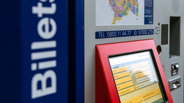 Vorsicht am Billettautomaten!