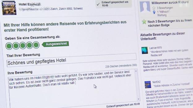 Audio «Tripadvisor: Bei kritischen Hotel-Bewertungen droht Anzeige» abspielen.