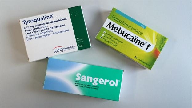 Auch rezeptfreie Halsweh-Pillen enthalten Antibiotika